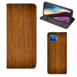 Motorola Moto G 5G Plus Book Wallet Case Donker Hout